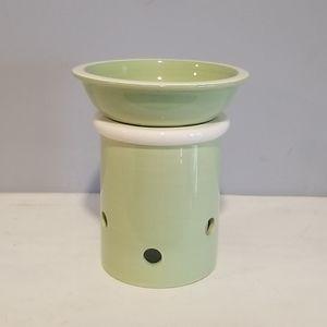 Hallmark Green & White Wax Tart Candle/ Oil Warmer